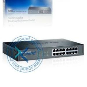 Switch Gigabit Ethernet TP-Link TL-SG1016D, 16 RJ-45 GbE 10/100/1000 Mbps, 13.3 W.
