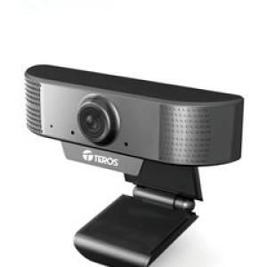 Cámara web Teros TE-9070, hasta 1080p 2MP, micrófono incorporado, USB 2.0. Trabaja con casi todas las aplicaciones de video-conferencias. Resolución: 1080p a 30fps, encaja perfectamente en tu