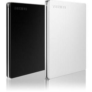 Disco Duro Pórtatil Toshiba Canvio Slim HDTD320XS3EA - Externo - 2TB - Plata - USB 3.0 - 3Año(s) Garantía