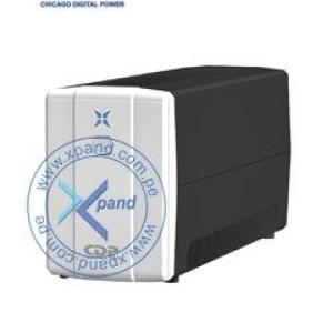 UPS CDP R-UPR758i, interactivo, 750VA, 375W, 220V, 8 tomacorrientes. 4 tomas UPS/AVR, 4 tomas de supresión de picos.