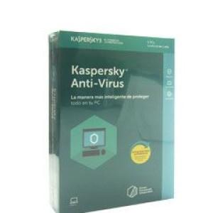 Software Kaspersky Anti-Virus, 5 PC, licencia 1 año.