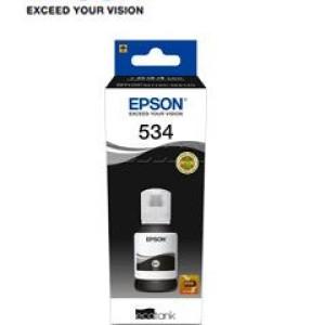 Botella de tinta EPSON T534120-AL, color negro, contenido 120ml. Impresora Epson EcoTank M1100/M1120/M1180/M2140/M2170.
