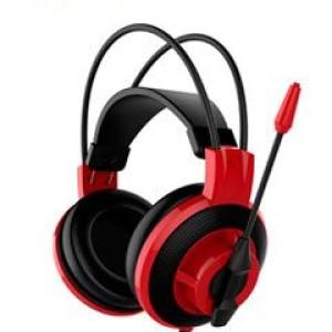 Auriculares Gaming MSI DS501, 40mm, 3.5mm, microfono, control en linea. Sensibilidad 97dB ±3dB, diámetro del altavoz 40mm, impedancia 32? Ohm, micrófono 9.7mm, conector 3.5mm para audífonos y
