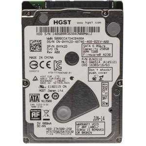 HYK2D 0HYK2D  250GB 2.5 7.2K 6Gbps SATA HDD HGST