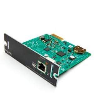 Tarjeta de administración de redes para SAI 3 - AP9640 Monitorización remota y control de un SAI individual al conectarlo directamente a la red. Incluye: Cable USB, Manual de usuario.