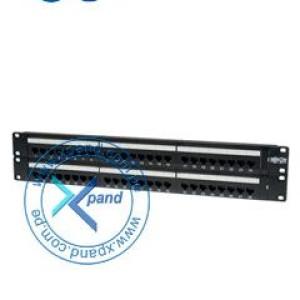 Tripp-Lite Panel patch de alta densidad, tipo 110, 2U, Cat6, de 48 puertos.