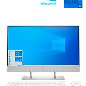 """All-in-One HP 27-dp1002la, 27"""" FHD IPS Touch, Core i7-1165G7 hasta 4.70GHz, 16GB DDR4.  1TB SATA + 256GB SSD M.2 PCIe NVMe, Video Integrated Intel Iris X? Graphics, LAN GbE + Realtek 802.11a/"""