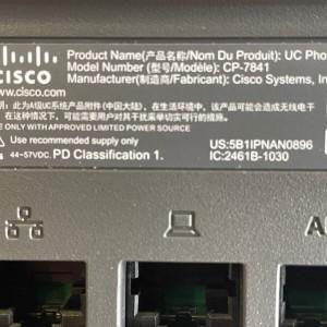 Telefono Cisco CP-7841-K9= 4-Lines IP Phone VoIP Display Phone - Producto Segundo Uso excelente estado Garantia 12 Meses