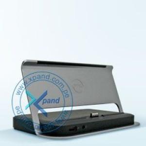 Estación de conexión DELL para Tablet Latitude 10. 4 puertos USB 2.0, 1 puerto HDMI, puerto para audifonos, 1 puerto RJ-45.