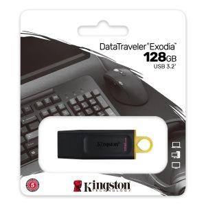 Unidad flash Kingston DataTraveler Exodia - 128GB - Negro, Amarillo