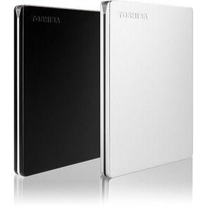 Disco Duro Pórtatil Toshiba Canvio Slim HDTD320XK3EA - Externo - 2TB - Negro - Computadora de escritorio Dispositivo compatible - USB 3.0 - 3Año(s) Garantía