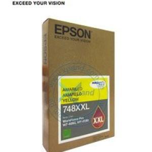 Epson 748, Capacidad Extra Alta. Copatible con WORKFORCE PRO WF-6090, WF-6590, WF-8090, WF-8590. Presentacion en caja.