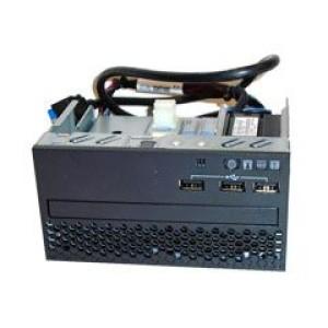 Panel frontal Lenovo 00YD070, 3 USB, Display LCD, para System x3650 M5. Posee bahía para unidad óptica Slim (no incluye unidad optica ni bezel ODD).
