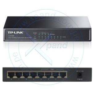 Switch TP-Link TL-SG1008P, 8 Puertos GbE (4 Puertos PoE : IEEE 802.3af). Capacidad de fabrica hasta 16 Gbps, tabla de dirección MAC 8K, memoria buffer de 2 Mb, adaptador de energía.