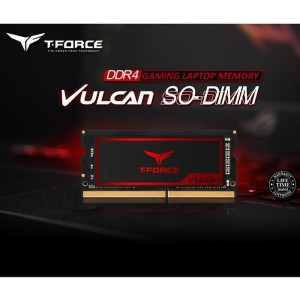 DDR4 SODIMM T-FORCE VULCAN 8GB 3200MHZ RED TLRD48G3200HC22-S01