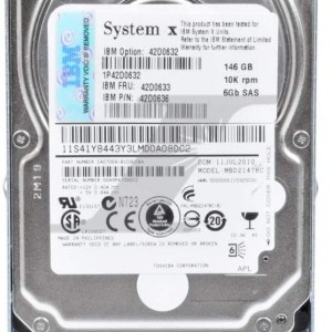 42D0632  42D0633 42D0636 146GB 10K 2.5  6GB DP SAS SFF  X3650M2 X3550M2  X3400M2  X3650M3 Bolsa garantia 1 Año - USADO