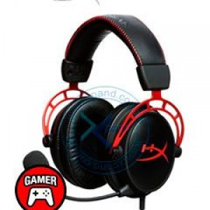 Auriculares Gaming Kingston HyperX Cloud Alpha, micrófono desmontable, 3.5mm, Negro/Rojo. Controlador dinámico de 50 mm, imanes de Neodimio, tipo Circumaural (cerrado por la parte trasera), i
