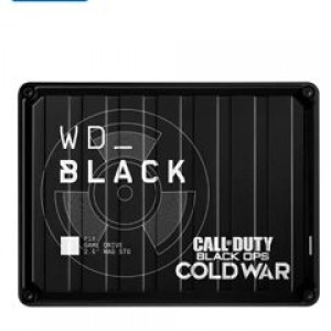 """Disco duro externo WD Black Call of Duty Black Ops Cold War Special Edition P10 Game Drive 2 TB, USB 3.2 Gen 1 hasta 5Gb/s, 2.5"""", Compatible con PS5, PS4 Pro, PS4, Xbox One, Xbox Series X/S,"""