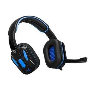 Auriculares de gaming ArgomTech Combat Cableado Sobre la cabeza Estéreo - Binaural - Circumaural - 32Ohm - 20Hz a 20kHz - 180cm Cable - Omnidireccional Micrófono - USB 2.0