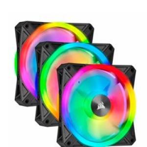 Fan Corsair Triple QL120 RGB, 12cm, 525 - 1500 ±10% RPM, 6V - 13.2V, PWM Control. Fan Airflow: 41.80 CFM, Presión estatica: 1.55 mm-H2O, nivel de ruido: 26 dBA, fan tipo Hidraulico.