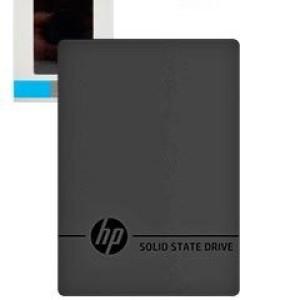 Disco duro externo estado sólido HP P600, 500GB, USB 3.1 Tipo-C. Velocidad de lectura: 560 Mbps, velocidad de escritura: 490 Mbps.