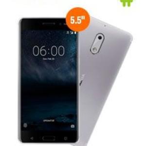 """Smartphone Nokia 6, 5.5"""" 1080x1920, Android 7.1, LTE, Dual SIM, Desbloqueado. Bandas LTE (1/2/3/4/5/7/8/20/28/38/40) / 3G (850/900/1900/2100 MHz) / 2G (850/900/1800/1900 MHz), conectividad Wi"""