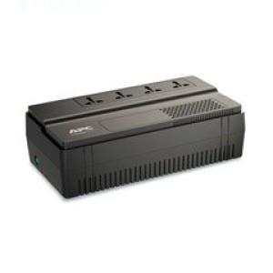 UPS APC BV1000I-MS, línea interactiva, AVR, 1000VA, 600W, 230VAC. Tiempo de recarga típico 6-8 horas, 4 enchufes de respaldo de batería Shuko / Universal, longitud del cable 1.5mt.
