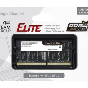DDR4 SODIMM TEAM GROUP ELITE 32GB 3200MHZ TED432G3200C22-S01