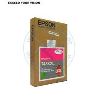 cartucho de tinta Epson 748XXL, Magenta, Alto Rendimiento, para Epson WorkForce Pro. Para: Epson WorkForce Pro WF-8090 Epson WorkForce Pro WF-8590  Epson WorkForce Pro WF-6090  Epson Work