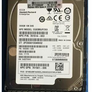 Disco HP  300GB 10K 12GBPS  SFF SAS SC HDD 781514-003 781581-006 EG0300JFCKA - Retirado de equipo en uso