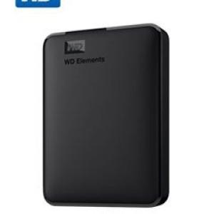 Disco duro externo Western Digital Elements Portable, 4 TB, USB 3.0, negro.