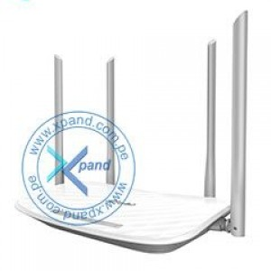Router Ethernet Wireless TP-Link AC1200, Dual Band, 2.4 GHz / 5 GHz, 802.11 a/b/g/n/ac. tasa de transferencia 867 Mbps (5 GHz) / 300 Mbps (2.4 GHz), 1 puerto RJ-45 WAN (10/100 Mbps), 4 puerto