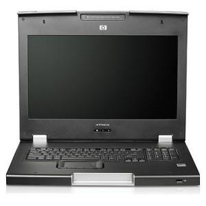 Consola KVM HP TFT7600 monitor de 17, teclado 1U -usado - stock 5 Unidades Precio  Remate - Segundo uso