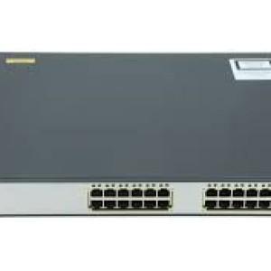 Cisco WS-C3750G-24PS-S 24 Port PoE 10/100/1000 Gigabit Switch - Usado