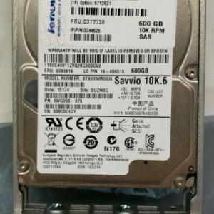 Disco Duro Lenovo - 600 GB - 2.5  Interno - SAS - 10000 rpm - Intercambiable en caliente - Pedido
