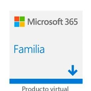 Licenciamiento Virtual (ESD) Microsoft 365 Family Licencia de suscripcion de un año / hasta 6 personas    Es una Licencia virtual. No se entrega fisicamente