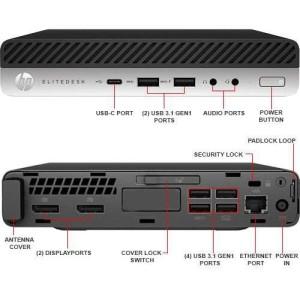 Alquiler Mensual CPU HP EliteDesk 800 G3 Mini Procesador i5-7500T 8GB RAM Disco Solido 256GB SSD, Windows 10 Incluye Teclado y Mouse  No incluye Monitor Ideal para Punto de Venta
