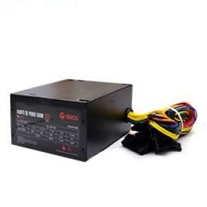 Fuente de alimentación Teros TE7160, ATX, 600W, 80 Plus Bronze, 100V - 240VAC 1 conector ATX 24/20 pines, 1 conector EPS 2x4, 1 conector PCI-e 6+2, 4 conectores SATA, 2 conectores Periféricos