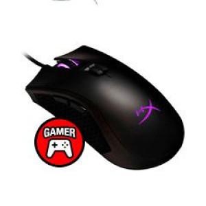 Mouse Gamer Kingston HyperX Pulsefire FPS Pro,16000 dpi,Ergonómico, Negro, 6 botones, USB. Sensor Pixart 3389 y las 3 pre-configuraciones de precisión brindan una exactitud extrema para los v