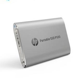 Disco duro externo estado sólido HP P500, 500GB, USB 3.1 Tipo-C, Plata Velocidad de lectura: 380 Mbps, velocidad de escritura: 200 Mbps.